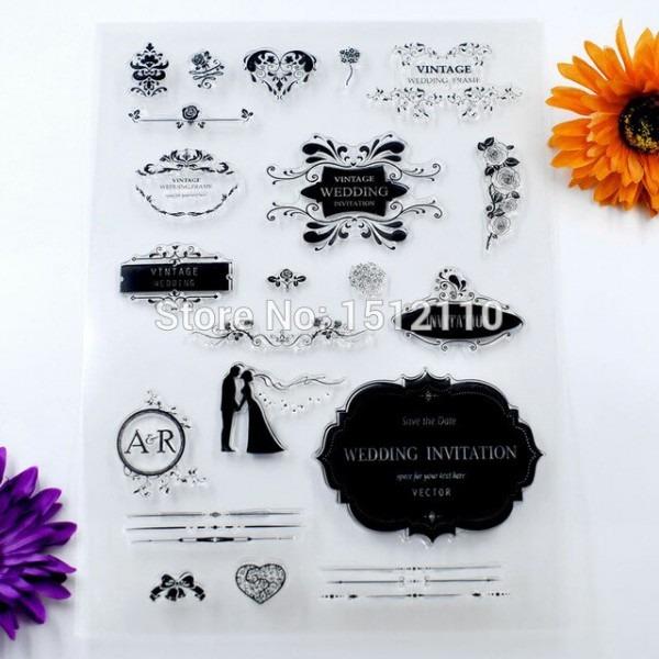 Tamanho A4 Scrapbook Diy Foto Cartões Do Convite Do Casamento Do V