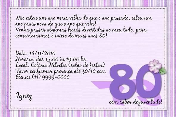 Texto Convite De Aniversario » Happy Birthday World
