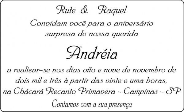 Texto De Convite De Aniversario 2 » Happy Birthday World
