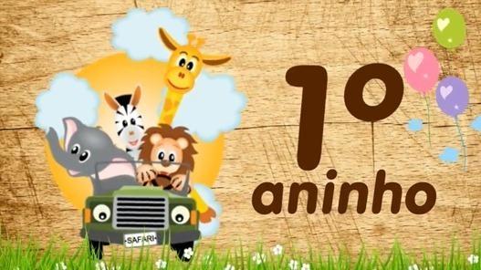 Video Convite Animado Safari Animais Envio Por Whatsapp