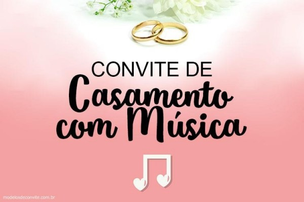 Convite De Casamento Com Trechos De Música! – Modelos De Convite