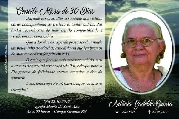 Portal Cg Rn  Convite Missa De 30 Dias De Saudades De Antônia
