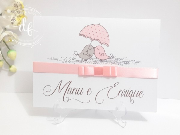 Convite De Casamento Passarinhos In Love 03