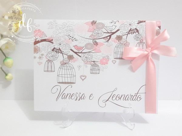 Convite De Casamento Passarinhos In Love 04