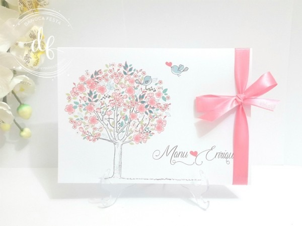 Convite De Casamento Passarinhos In Love 05
