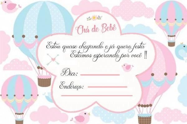 Convite Chá De Bebê Pronto Para Imprimir !!!