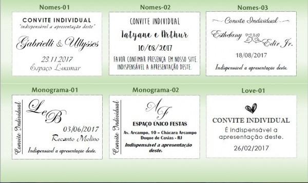 100 Convite Individual Rústico Casamento