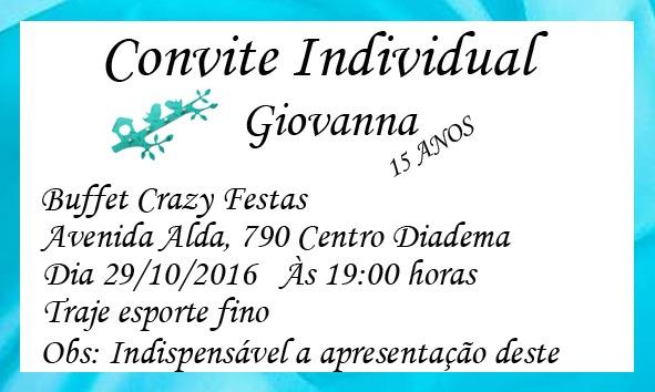 100 Convites + 100 Tags + 120individuais No Elo7