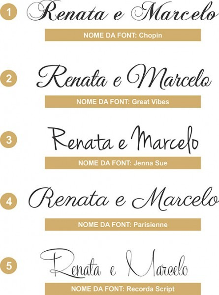 Pacote 10 Modelos De Fontes Para Convites De Casamento