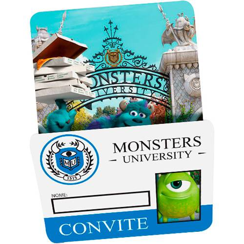 Convite Grande Universidade Monstros