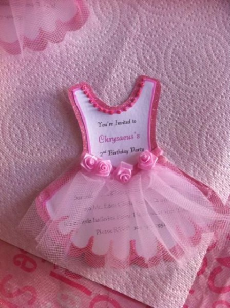 Convites Bailarina Tule