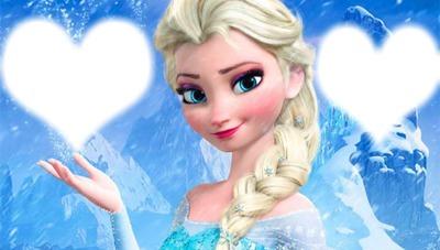 Fotomontagem Montagem Elsa Frozen