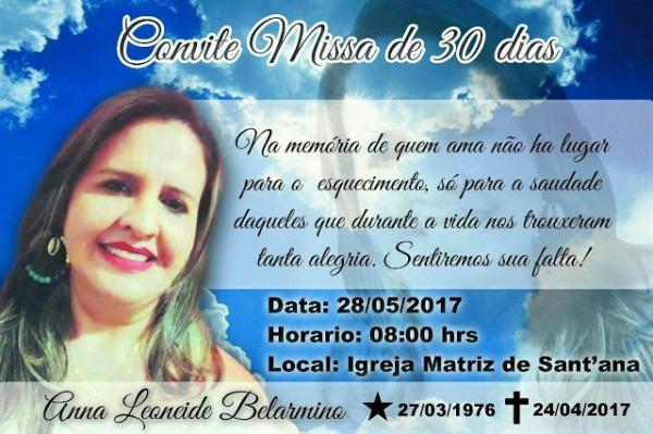 Portal Cg Rn  Convite Missa De 30 Dias De Saudades De Anna Beatriz