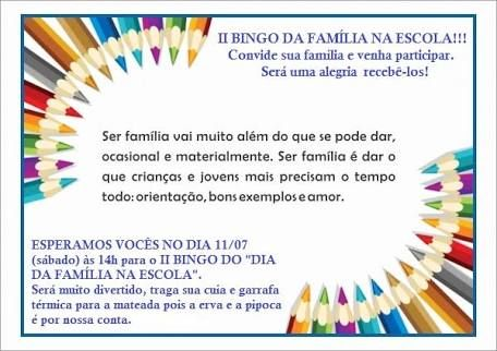 Resultado De Imagem Para Convite Dia Da Familia Na Escola