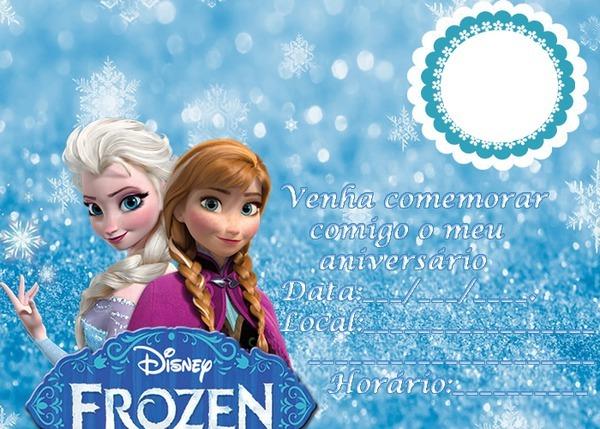 Fotomontagem Convite De Aniversário Frozen