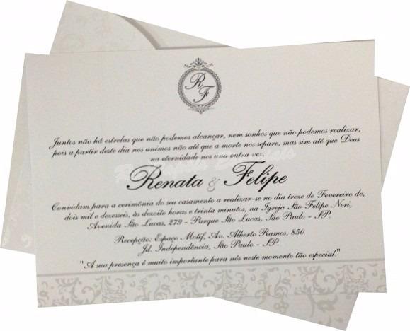 25 Convites Casamento Horizontal Floral 15 X 21 Cm  Promoção