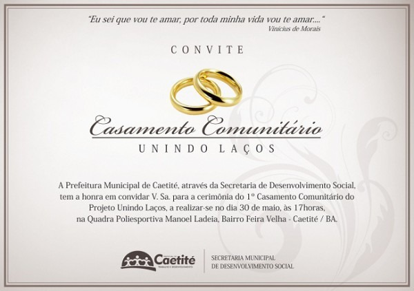 Caetfest   Notícias   Convite