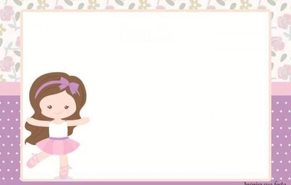 Convite De Chá De Bebê Bailarina  18 Modelos! Continue Vendo