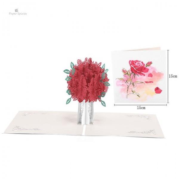 3d Pop Up Flor Do Convite Do Casamento Cartões De Agradecimento De