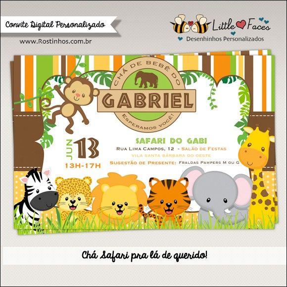 Convite Chá De Bebê Safari Para Imprimir