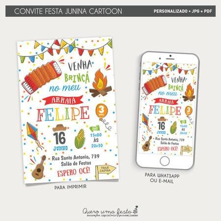 Convite Festa Junina Divertido