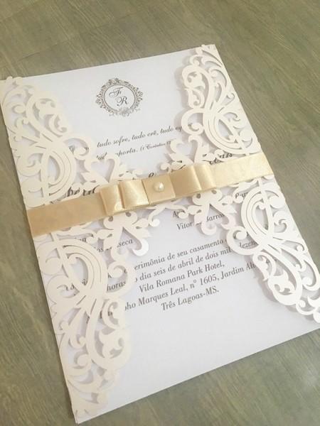 Convite De Casamento Corte Laser