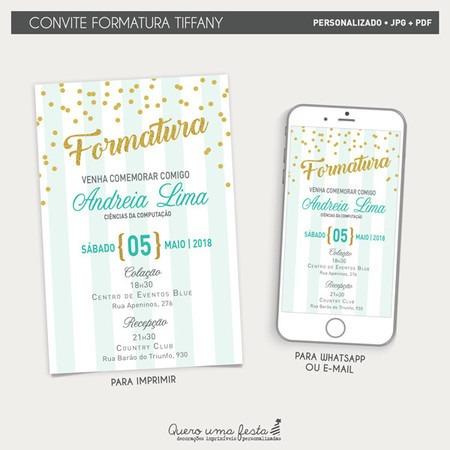 Convite Formatura Tiffany