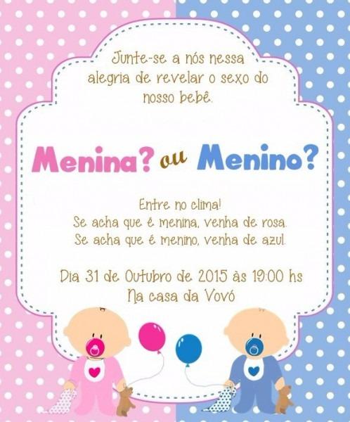 64 Convite Chá De Bebê Fraldas Revelação Panela Aniversario