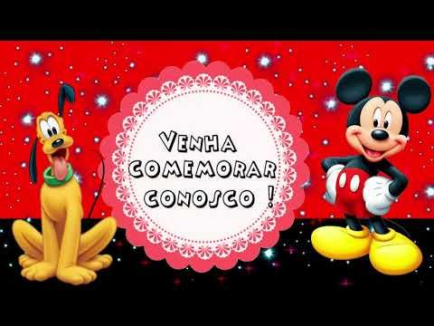 Convite Animado Mickey Para Baixar Convite Animado Mickey Grátis