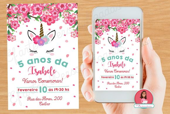 Convite Unicórnio Digital