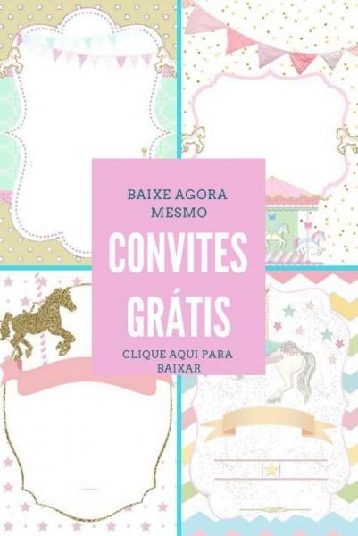 Convite Carrossel Encantado Grátis Convite Carrossel Encantado