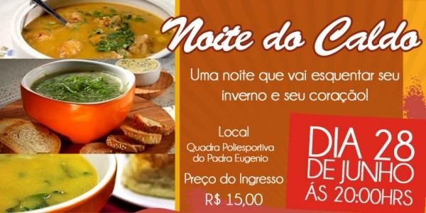 Convite Noite Do Caldo _ Monte Castelo