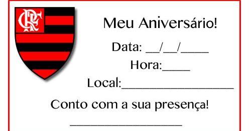 Convites De Aniversário Infantil Do Flamengo Para Imprimir