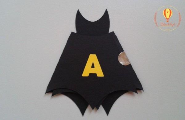 Convite Em Formato De Morcego Do Batman  As Crianças Adoram!