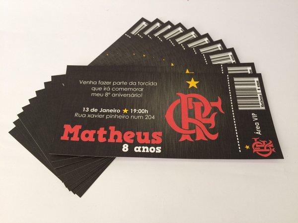 Convite 10x21 Flamengo
