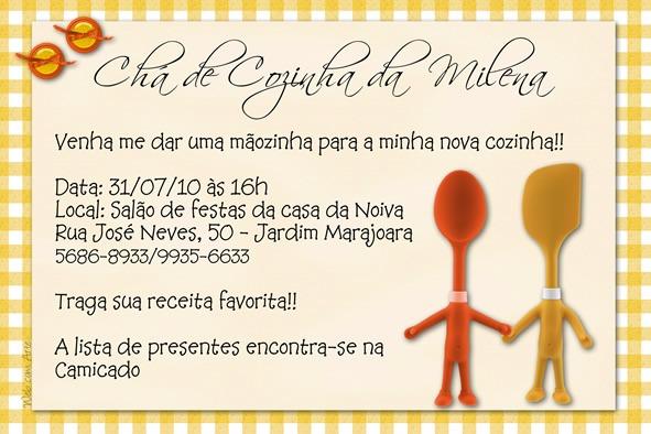 Frases Para Convite De Cha De Panela