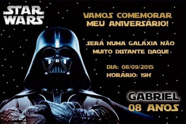Convite De Aniversário Para Imprimir Star Wars Jpeg E Pdf Em 2019