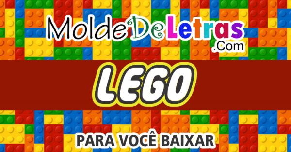 Molde De Letras E Números » Estilo Lego Para Você Baixar!