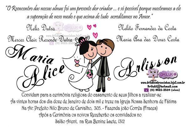 Convite Casamento Noivinhos 2