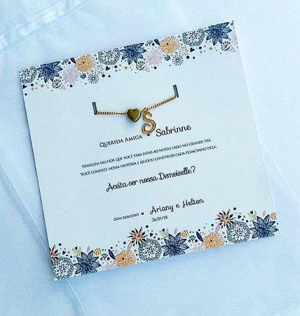 Convite Demoiselles (mínimo 5 Unidades)