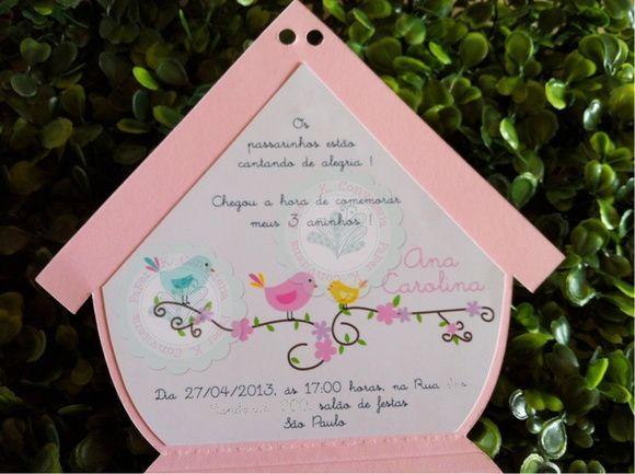 Convite Casa Passarinhos