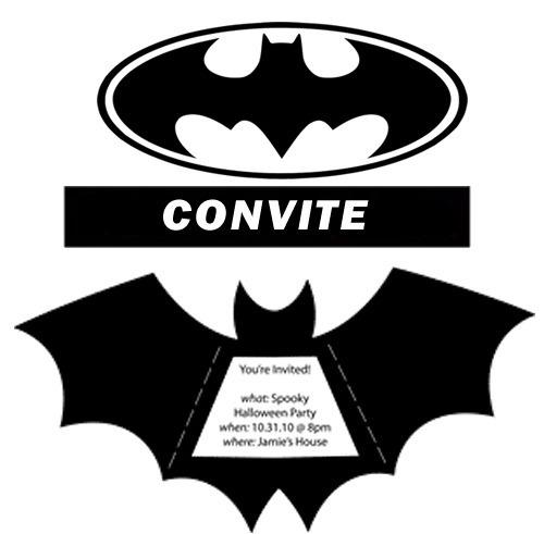 Arquivo De Corte Digital Convite Morcego Batman Silhouette