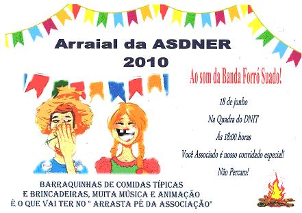 Convite Do Arraial Da Asdner Pernambuco