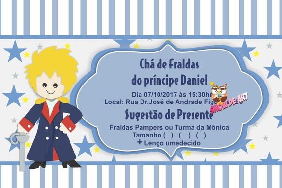Convite Cha De Fraldas Pequeno Principe