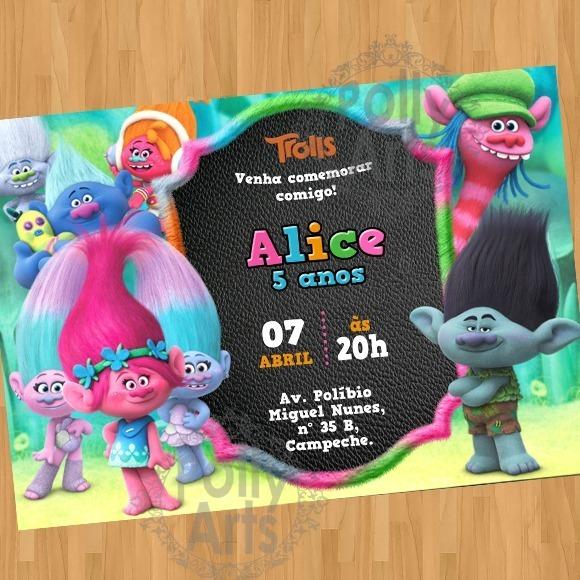 Arte Convite Digital Virtual Trolls