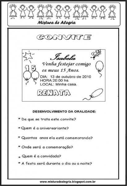 Atividades Com Convites De Aniversario » Happy Birthday World