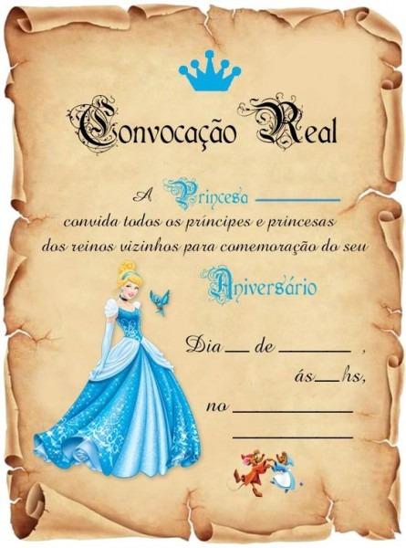 Festa Cinderela Convite Aniversário C 30