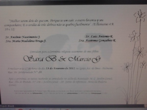 Meu Convite De Casamento (passo A Passo)