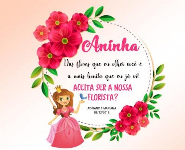 Convite Florista Criança