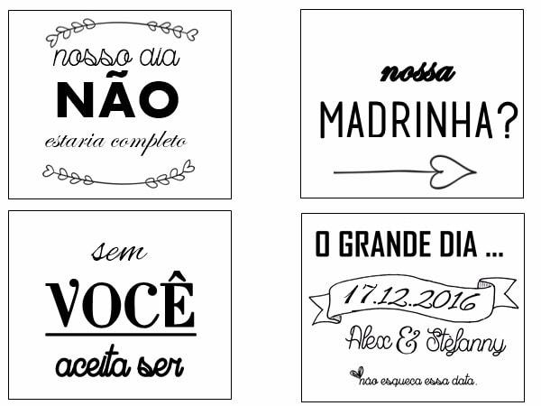 Diy  Convites Padrinhos (arte)